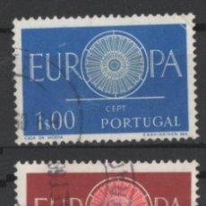 Sellos: PORTUGAL 1960 EUROPA CEPT COMPLETA USADA * LEER DESCRIPCION. Lote 278531453