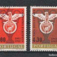 Sellos: PORTUGAL 1963 BENFICA COMPLETA USADA * LEER DESCRIPCION. Lote 278531683