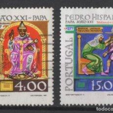 Sellos: PORTUGAL 1977 PAPA JUAN XXI COMPLETA USADA * LEER DESCRIPCION. Lote 278531863