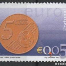 Sellos: PORTUGAL 2002 MONEDA EURO 0,05 SELLO USADO * LEER DESCRIPCION. Lote 279519058