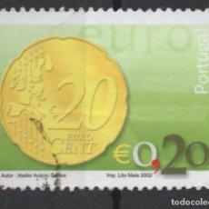 Sellos: PORTUGAL 2002 MONEDA EURO 0,20 SELLO USADO * LEER DESCRIPCION. Lote 279519123