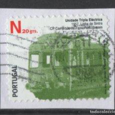 Sellos: PORTUGAL 2009 TRANSPORTE PUBLICO TRENES SELLO AUTOADHESIVO USADO * LEER DESCRIPCION. Lote 279519298