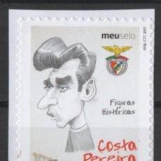Sellos: PORTUGAL BENFICA CARICATURA JUGADOR FUTBOL COSTA PEREIRA AUTOADHESIVO USADO * LEER DESCRIPCION. Lote 279519828