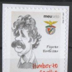 Sellos: PORTUGAL BENFICA CARICATURA JUGADOR FUTBOL HUMBERTO COELHO AUTOADHESIVO USADO * LEER DESCRIPCION. Lote 279519868
