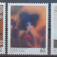 Sellos: 1990-PORTUGAL-SELLOS-SERIE COMPLETA-PINTURA PORTUGESA DEL SIGLO XX. Lote 287975833
