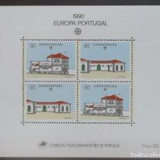 Sellos: 1990-PORTUGAL-SELLOS-SERIE COMPLETA-EUROPA-CEPT-BLOC Nº 112. Lote 287976438