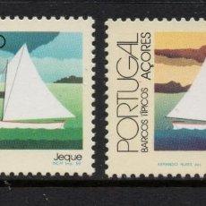 Sellos: AZORES 363/64** - AÑO 1985 - BARCOS TIPICOS DE AZORES. Lote 288076778