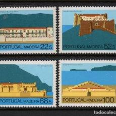 Sellos: MADEIRA 112/15** - AÑO 1986 - ARQUITECTURA REGIONAL - FORTALEZAS. Lote 288080533
