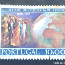 Sellos: MICHEL PT 1297 - PORTUGAL - CENTENARY OF THE GEOGRAPHICAL SOCIETY OF LISBON - 1975. Lote 288624548