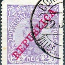 Sellos: 1910 - PORTUGAL - REY MANUEL II - SOBRECARGA REPUBLICA - YVERT 168. Lote 288634288