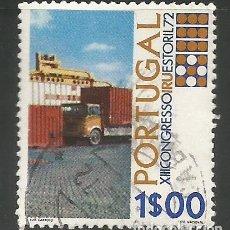 Sellos: PORTUGAL - 1,00 ESCUDOS - XIII CONGRESO IRU ESTORIL 72- USADO. Lote 288726763