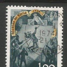 Sellos: PORTUGAL - 1,00 ESCUDOS - 700 ANIVERSARIO ALCALDE DE FARIA 1372 - USADO. Lote 288727063