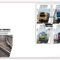 Sellos: PORTUGAL & FDC AÑO EUROPEO DEL TRANSPORTE FERROVIARIO 2021 (3426). Lote 289359223