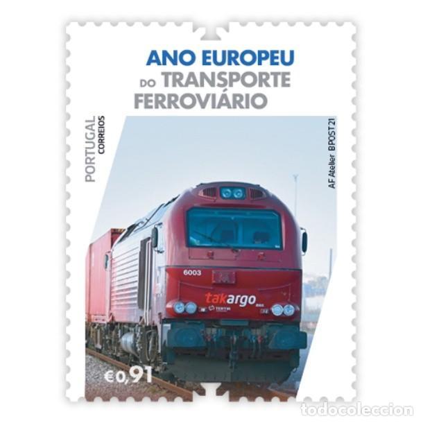 PORTUGAL ** & AÑO EUROPEO DEL TRANSPORTE FERROVIARIO 2021 (3425) (Sellos - Extranjero - Europa - Portugal)