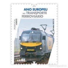 Sellos: PORTUGAL ** & AÑO EUROPEO DEL TRANSPORTE FERROVIARIO 2021 (3426). Lote 289397263
