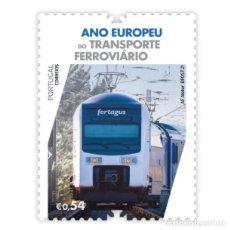 Sellos: PORTUGAL ** & AÑO EUROPEO DEL TRANSPORTE FERROVIARIO 2021 (3426). Lote 289397598