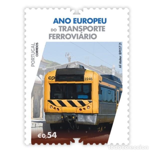 PORTUGAL ** & AÑO EUROPEO DEL TRANSPORTE FERROVIARIO 2021 (3427) (Sellos - Extranjero - Europa - Portugal)