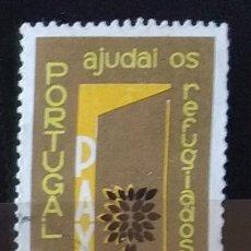 Sellos: SELLO DE PORTUGAL AÑO MUNDIAL DE LOS REFUGIADOS (MATASELLADO). Lote 290003448