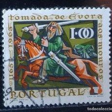 Sellos: SELLO DE PORTUGAL 800 ANIVERSARIO RECONQUISTA DE EVORA (MATASELLADO). Lote 290004613