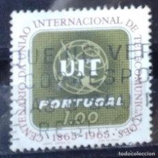 Sellos: SELLO DE PORTUGAL CENTENARIO INT. DE TELECOMUNICACIONES (MATASELLADO). Lote 290006368