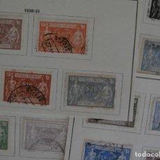Sellos: PORTUGAL PRIMER CENTENARIO - ALEGORIA DEL COMERCIO E INDUSTRIA 1920-21 - SERIE COMPLETA -.. Lote 291217323