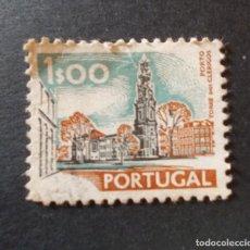 Sellos: SELLO PORTUGAL. UNESCO MONUMENTOS. TORRE DOS CLÉRIGOS PORTO 1$00 1972. Lote 291411993