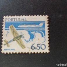 Sellos: SELLO PORTUGAL. DESARROLLO DE TECNOLOGÍA. MONOPLANO Y B.A.C. UN AVIÓN DE PASAJEROS ELEVEN 6$50 1980. Lote 291414298