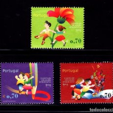 Sellos: PORTUGAL 2002 TEMA AMERICA UPAEP EDUCACIÓN Y ANALFABETISMO 3V.. Lote 294567208