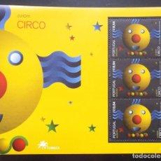 Sellos: TEMA EUROPA. 2002 PORTUGAL HB HOJA BLOQUE. EL CIRCO 3. Lote 294568683
