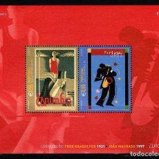 Sellos: TEMA EUROPA 2003 PORTUGAL EL CARTEL HB JAZZ 2V.. Lote 294569528