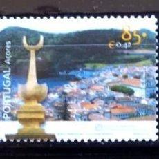Sellos: TEMA PORTUGAL AZORES 2001 469/71 PATRIMONIO MUNDIAL ANGRA 3V.. Lote 294575943