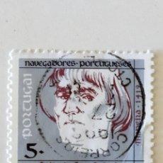 Sellos: SELLO DE PORTUGAL 5 E - 1990 - NAVEGANTES -, USADOS SIN SEÑAL DE FIJASELLOS. Lote 294827658
