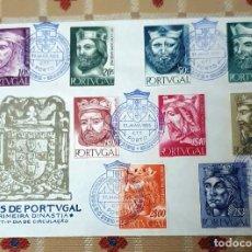 Sellos: SOBRE PRIMER DIA.1955 REYES DE PORTUGAL. 1ª DINASTIA.. Lote 295373563