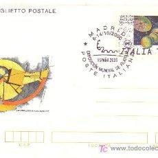 Sellos: ITALIA. ENTERO POSTAL CON MAT. CONMEMORATIVO DE ESPAÑA 2000.. Lote 25333205