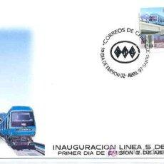 Sellos: CHILE 1997.- INAUGURACION LINEA 5 DE METRO. TEMA FERROCARRIL. Lote 27273688