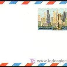 Sellos: USA 1985 ENTERO POSTAL AMERIPEX 86. Lote 6378643