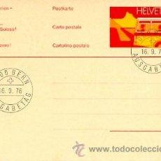 Sellos: SUIZA, AUTOBUS. ENTERO POSTAL CON MATASELLOS PRIMER DIA DEL 16-9-1976. Lote 9523512