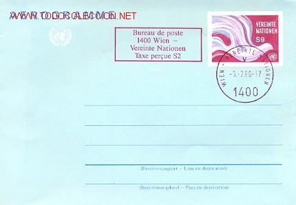 NACIONES UNIDAS - AEROGRAMA MATASELLADO EL 3-2-1966 (Sellos - Extranjero - Entero postales)