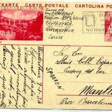 Suiza. entero postal