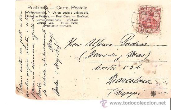 ENTERO POSTAL DE BERLIN A BARCELONA.1908 (Sellos - Extranjero - Entero postales)