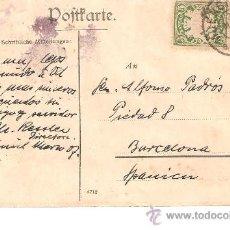 Sellos: ENTERO POSTAL DE ALEMANIA A BARCELONA 1909. Lote 26452927