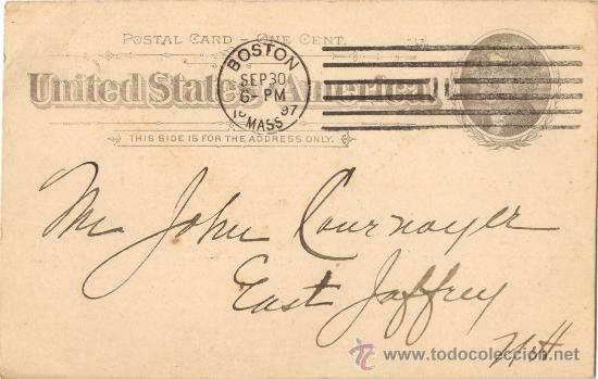 ENTERO POSTAL USA. PUBLICIDAD. BOSTON. 1897 (Sellos - Extranjero - Entero postales)