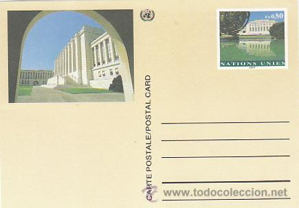 NACIONES UNIDAS, PALACIO DE LAS NACIONES DE GINEBRA, SUIZA. ENTERO SIN USAR (Sellos - Extranjero - Entero postales)