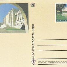 Sellos: NACIONES UNIDAS, PALACIO DE LAS NACIONES DE GINEBRA, SUIZA. ENTERO SIN USAR. Lote 18705928
