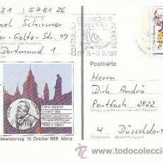 Sellos: ALEMANIA IVERT Nº 1181, 150 ANIVERSARIO DEL CARNAVAL DE MAYENCE, ENTERO POSTAL CIRCULADO EL 5-4-1990. Lote 19439919