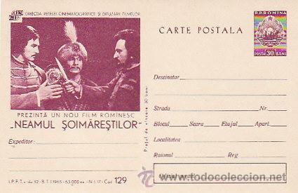RUMANIA, SOIMARESTILOR NACIÓN, PELICULA DEL AÑO 1965, ENTERO POSTAL (Sellos - Extranjero - Entero postales)