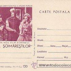 Sellos: RUMANIA, SOIMARESTILOR NACIÓN, PELICULA DEL AÑO 1965, ENTERO POSTAL. Lote 19727162