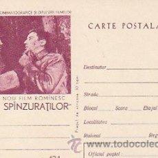 Sellos: RUMANIA,CINE, EL BOSQUE DE LOS COLGADOS, PELICULA DEL AÑO 1965 DE REBREANU, ENTERO POSTAL. Lote 19727235