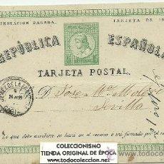Sellos: (PS-20339)ENTERO POSTAL REPUBLICA ESPAÑOLA CIRCULA EN EL AÑO 1875. Lote 22927341