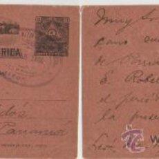 Sellos: ANTIGUO Y RARO ENTERO POSTAL DE NICARAGUA, 1898. CIRCULADO DESDE LA CIUDAD DE LEÓN A PANAMÁ. Lote 27295167